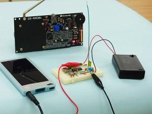 電波のものさしにもなる!C-MOSデジタルICで作る、  水晶発振子を使ったAM変調器の実験」