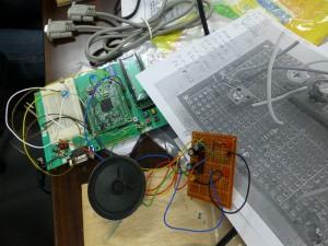 でんでんタウン発明ロボット塾マイコン入門工作 踏切カンカン装置