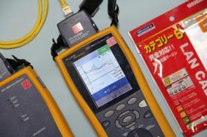 米国FLUKE社DTX-1800で市販のカテゴリ6ケーブルをテスト